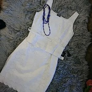 NWT Doncaster lilac white skirt and top